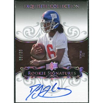 2008 Exquisite Collection Silver Holofoil #110 DJ Hall Autograph /30