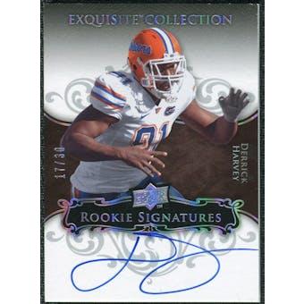2008 Exquisite Collection Silver Holofoil #116 Derrick Harvey Autograph /30
