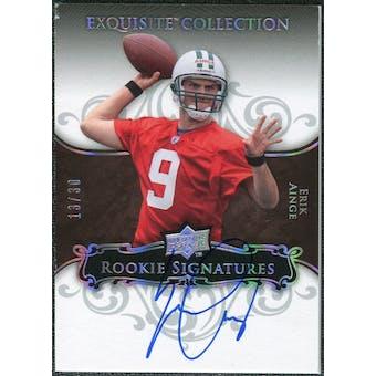 2008 Exquisite Collection Silver Holofoil #120 Erik Ainge Autograph /30