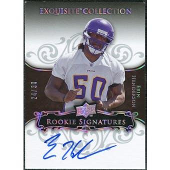 2008 Exquisite Collection Silver Holofoil #121 Erin Henderson RC Autograph 24/30