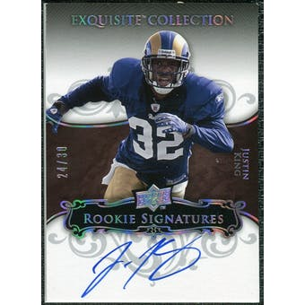 2008 Exquisite Collection Silver Holofoil #133 Justin King Autograph /30