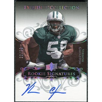 2008 Exquisite Collection Silver Holofoil #142 Vernon Gholston Autograph 22/30