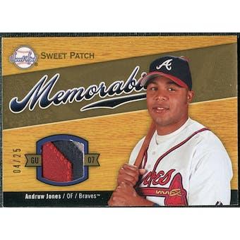 2007 Upper Deck Sweet Spot Sweet Swatch Memorabilia Patch #AJ Andruw Jones 4/25