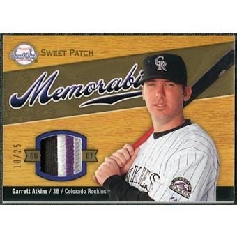 2007 Upper Deck Sweet Spot Sweet Swatch Memorabilia Patch #AT Garrett Atkins 10/25