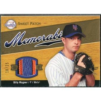 2007 Upper Deck Sweet Spot Sweet Swatch Memorabilia Patch #BW Billy Wagner 18/25