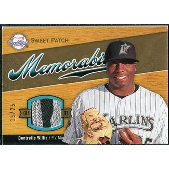 2007 Upper Deck Sweet Spot Sweet Swatch Memorabilia Patch #DW Dontrelle Willis 15/25