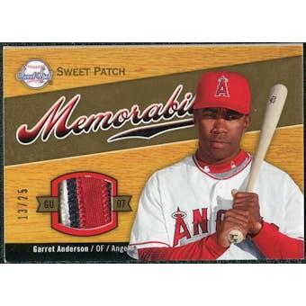 2007 Upper Deck Sweet Spot Sweet Swatch Memorabilia Patch #GA Garret Anderson /25