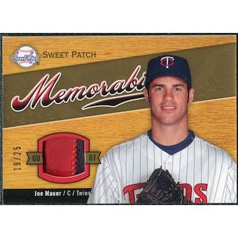 2007 Upper Deck Sweet Spot Sweet Swatch Memorabilia Patch #JM Joe Mauer 19/25