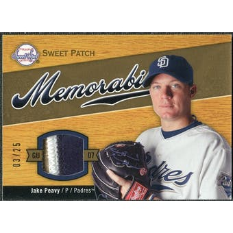 2007 Upper Deck Sweet Spot Sweet Swatch Memorabilia Patch #JP Jake Peavy 3/25