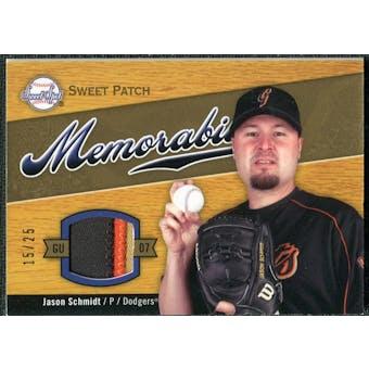 2007 Upper Deck Sweet Spot Sweet Swatch Memorabilia Patch #JS Jason Schmidt /25