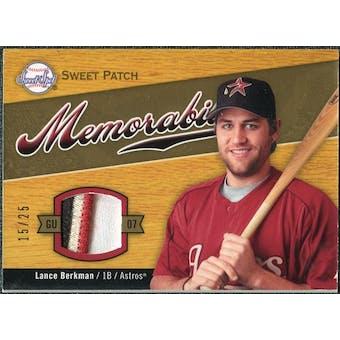 2007 Upper Deck Sweet Spot Sweet Swatch Memorabilia Patch #LB Lance Berkman /25