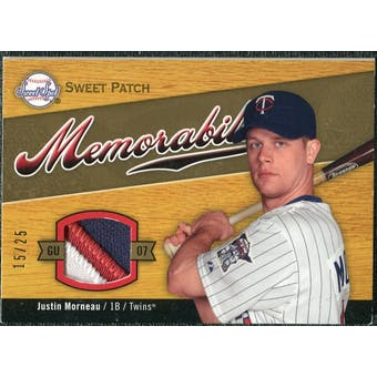 2007 Upper Deck Sweet Spot Sweet Swatch Memorabilia Patch #MO Justin Morneau /25
