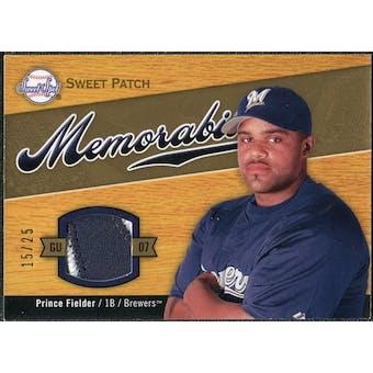 2007 Upper Deck Sweet Spot Sweet Swatch Memorabilia Patch #PF Prince Fielder /25