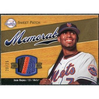 2007 Upper Deck Sweet Spot Sweet Swatch Memorabilia Patch #RE Jose Reyes /25