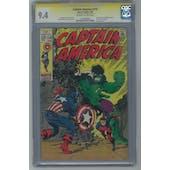 Captain America #110 CGC 9.4 (OW-W) Signature Series (Steranko) *1240362005*