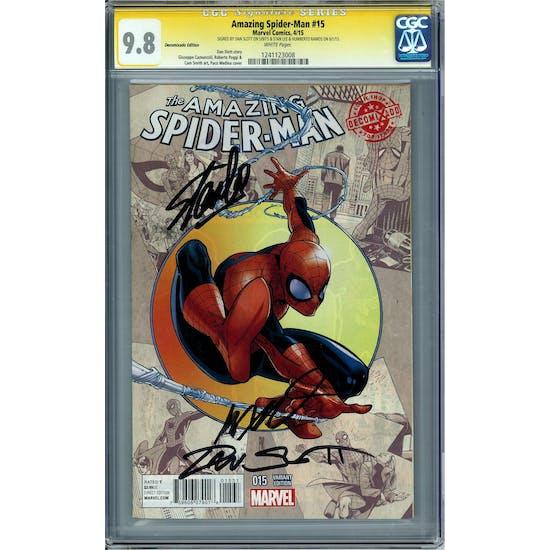 Amazing Spider-Man #15 Decomixade Edition CGC 9.8 Stan Lee Dan Slott Humberto Ramos Signature Series (W)