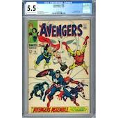 Avengers #58 CGC 5.5 (OW-W) *1244991008*