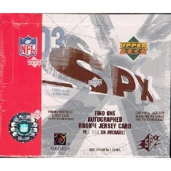 2003 Upper Deck SPx Football Hobby Box