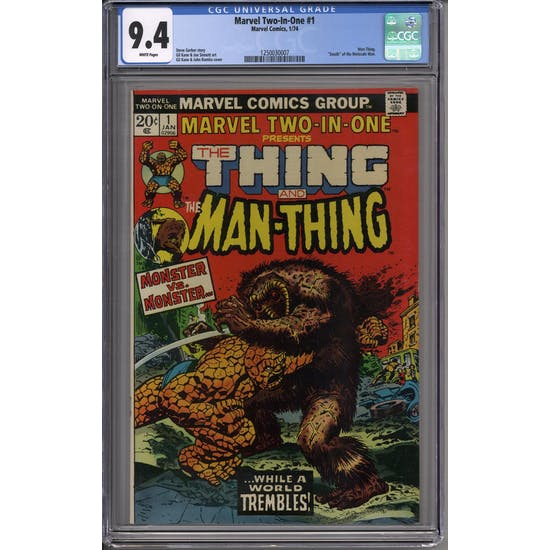 Marvel Two-In-One #1 CGC 9.4 (W) *1250030007*