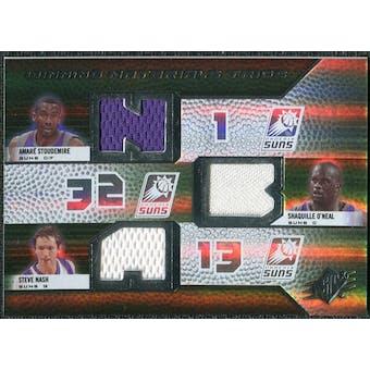2008/09 Upper Deck SPx Winning Materials Trios #WMTNSO Amare Stoudemire Shaquille O'Neal Steve Nash