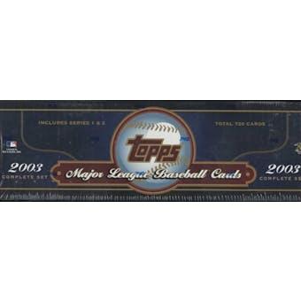 2003 Topps Baseball Retail Factory Set (Box) (Blue)