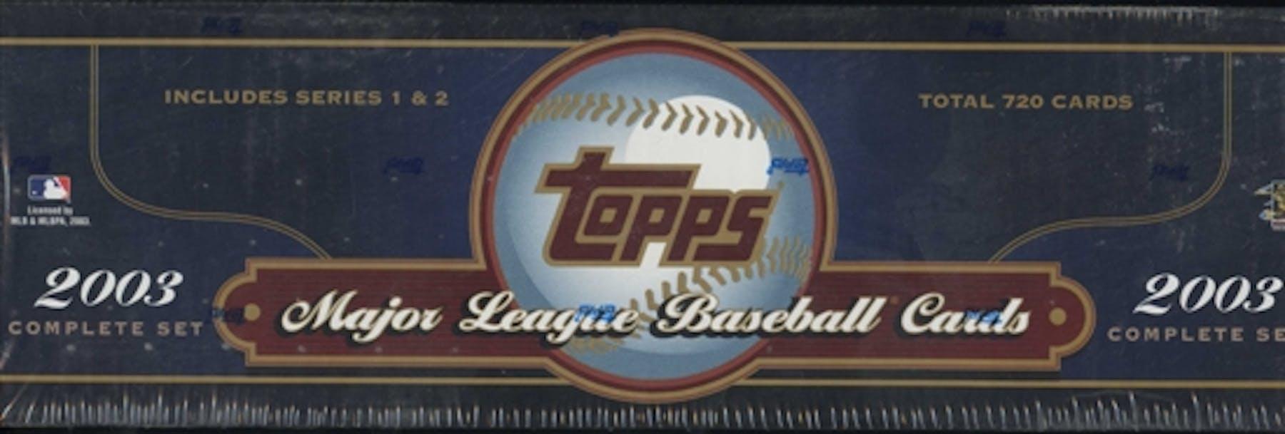2003 Topps Baseball Retail Factory Set Box Blue
