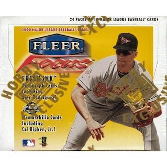 2000 Fleer Focus Baseball Hobby Box
