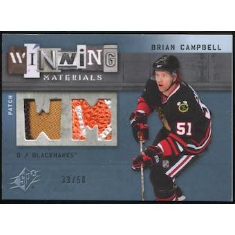 2009/10 Upper Deck SPx Winning Materials Spectrum Patches #WMBC Brian Campbell 33/50
