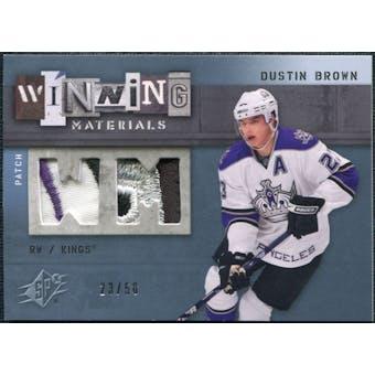 2009/10 Upper Deck SPx Winning Materials Spectrum Patches #WMDB Dustin Brown /50