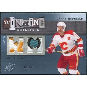 2009/10 Upper Deck SPx Winning Materials Spectrum Patches #WMLM Lanny McDonald /50