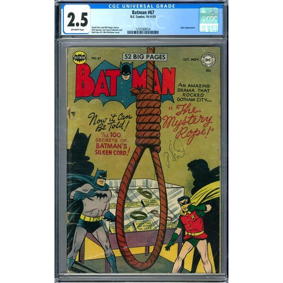 Batman #67 CGC 2.5 (OW) *1255568024*
