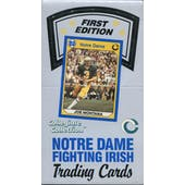 1990 Collegiate Collection Notre Dame Football Hobby Box (Reed Buy)