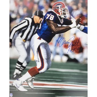 Bruce Smith Autographed Buffalo Bills 16x20 Action Photo