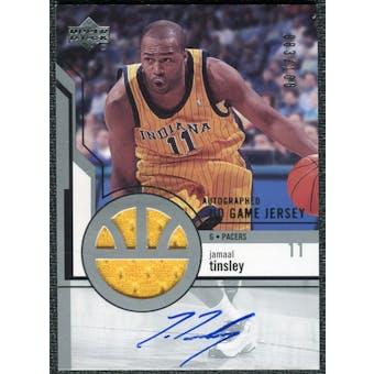 2003/04 Upper Deck UD Game Jerseys Autographs #17 Jamaal Tinsley Autograph /100