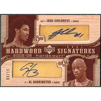 2005/06 Upper Deck Hardcourt Hardwood Signatures Dual #CH Josh Childress Al Harrington Autograph /10