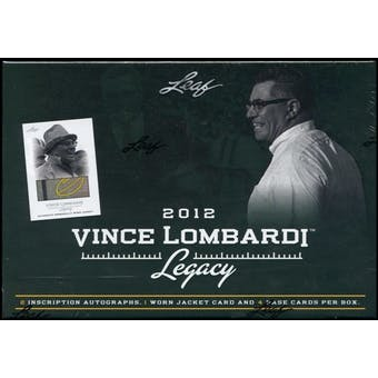 2012 Leaf Vince Lombardi Legacy Football Hobby Box