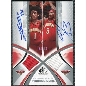 2005/06 SP Game Used Authentic Fabrics Dual Autographs #CH Josh Childress Al Harrington /25