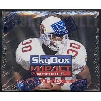 1996 Skybox Impact Rookies Football 18-Pack Box