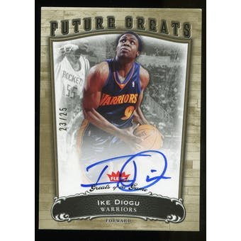 2005/06 Fleer Greats of the Game Gold #125 Ike Diogu Autograph /25