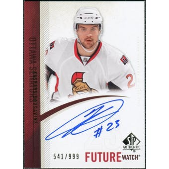 2010/11 Upper Deck SP Authentic #260 Kaspars Daugavins RC Autograph /999