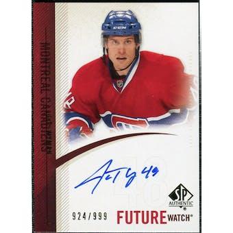 2010/11 Upper Deck SP Authentic #272 J.T. Wyman RC Autograph /999