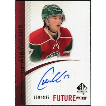 2010/11 Upper Deck SP Authentic #276 Casey Wellman RC Autograph /999