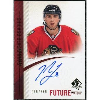 2010/11 Upper Deck SP Authentic #294 Nick Leddy RC Autograph /999
