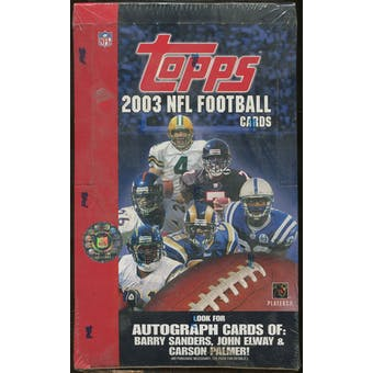 2003 Topps Football Retail 36 Pack Box
