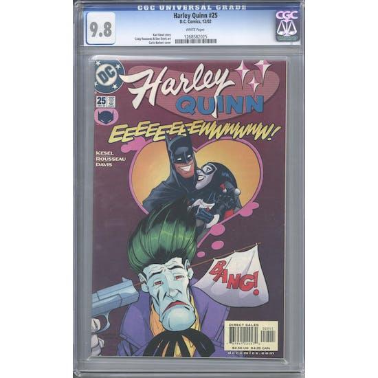Harley Quinn #25 CGC 9.8 (W) *1268582025*