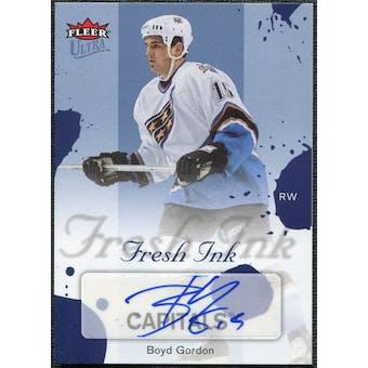 2005/06 Fleer Ultra Fresh Ink Blue #FIBG Boyd Gordon Autograph /25