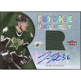 2005/06 Fleer Ultra Rookie Uniformity Jersey Autographs #ARUJJ Jussi Jokinen /25