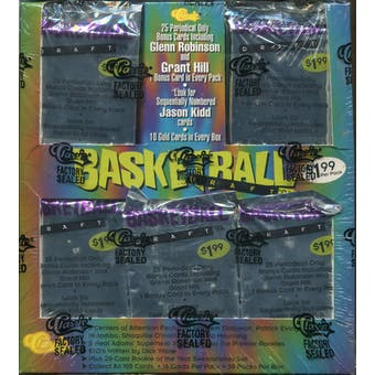1994/95 Classic Draft Picks And Prospects Basketball Jumbo Box
