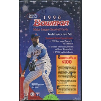 1996 Bowman Baseball Retail Box