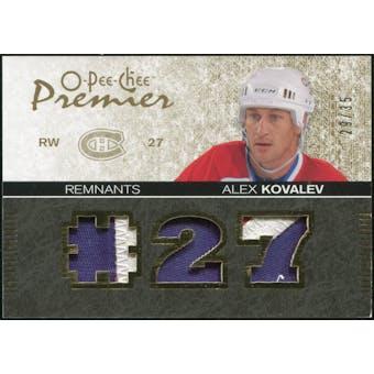 2007/08 Upper Deck OPC Premier Remnants Triples Patches #PRAK Alex Kovalev 29/35